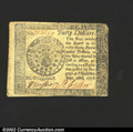 Colonial Notes:Continental Congress Issues, September 26, 1778, $40, Continental Congress Issue, CC-84, VF-...