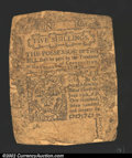 Colonial Notes:Connecticut, June 7, 1776, 5s, Connecticut, CT-199, Good. Backed ...