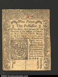 Colonial Notes:Connecticut, June 19, 1776, 9d, Connecticut, CT-206, VF+. ...