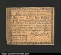 Colonial Notes:Rhode Island, July 2, 1780, $4, Rhode Island, RI-285, XF+. ...