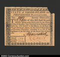 Colonial Notes:Rhode Island, July 2, 1780, $7, Rhode Island, RI-287, CU, but missing the ...