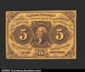 Fractional Currency:First Issue, First Issue 5c, Fr-1230, XF. ...