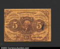 Fractional Currency:First Issue, First Issue 5c, Fr-1230, Fine-VF. Stains. ...