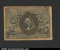 Fractional Currency:Second Issue, Second Issue 10c, Fr-1244, VF....