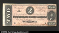 Confederate Notes:1864 Issues, 1864 $2 Judah P. Benjamin, T-70, CU. ...