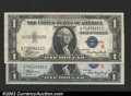"""Small Size:Silver Certificates, 1935A $1 """"R"""" & """"S""""s Silver Certificates, Fr-1609/1610, both ..."""