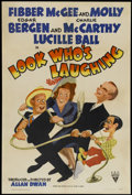"Movie Posters:Comedy, Look Who's Laughing (RKO, 1941). One Sheet (27"" X 41""). Comedy...."