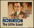 "Movie Posters:Crime, The Little Giant (First National, 1933). Title Lobby Card (11"" X 14"") and Still (8"" X 10""). Crime.... (Total: 2 Items)"