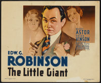 "The Little Giant (First National, 1933). Title Lobby Card (11"" X 14"") and Still (8"" X 10""). Crime..."