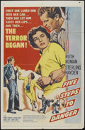 """Movie Posters:Adventure, Five Steps to Danger (United Artists, 1957). One Sheet (27"""" X 41"""").Adventure...."""