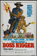"Movie Posters:Blaxploitation, Boss Nigger (Dimension, 1975). One Sheet (27"" X 41""). Blaxploitation...."