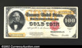 Large Size:Gold Certificates, 1922 $100 Gold Certificate, Fr-1215, VF-XF. An attractive ...