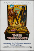 "Movie Posters:Blaxploitation, Three Tough Guys (Paramount, 1974). One Sheet (27"" X 41"").Blaxploitation...."