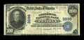 National Bank Notes:Illinois, Peoria, IL - $100 1902 Plain Back Fr. 704 The Commercial NB Ch. # 3296. ...