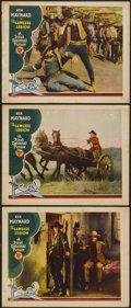 """Movie Posters:Western, The Lawless Legion (First National, 1929). Lobby Cards (3) (11"""" X 14""""). Western.... (Total: 3 Items)"""