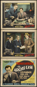 """Movie Posters:Drama, The Argyle Case (Warner Brothers, 1929). Title Lobby Card and Lobby Cards (2) (11"""" X 14""""). Drama.... (Total: 3 Item)"""