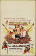 "Movie Posters:Musical, Bring Your Smile Along (Columbia, 1955). Window Card (14"" X 22"").Musical...."