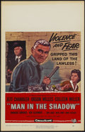 "Movie Posters:Drama, Man in the Shadow (Universal, 1958). Window Card (14"" X 22""). Drama...."