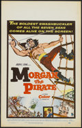 "Movie Posters:Adventure, Morgan the Pirate (MGM, 1961). Window Card (14"" X 22"").Adventure...."