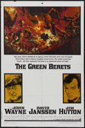 "Movie Posters:War, The Green Berets (Warner Brothers, 1968). One Sheet (27"" X 41"").War...."