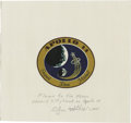 Explorers:Space Exploration, Apollo 14 Command Module Kittyhawk Flown and Signed Beta Cloth Mission Emblem. ...