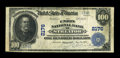 National Bank Notes:Illinois, Streator, IL - $100 1902 Plain Back Fr. 703 The Union NB Ch. # 2176. ...