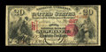 National Bank Notes:Connecticut, New Haven, CT - $20 1875 Fr. 433 The Second NB Ch. # 227. ...