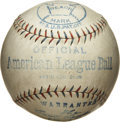 Baseball Collectibles:Others, 1910-27 Official American League Baseball. Scarce official ReachAmerican League baseball dating from 1910-25 originates fr...