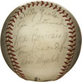 Autographs:Baseballs, 1954 Montreal Royals Team Signed Baseball. The Montreal Royals werethe top farm team of the Brooklyn Dodgers for the years...