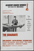 "Movie Posters:Comedy, The Graduate (Avco Embassy, 1968). One Sheet (27"" X 41"") AcademyAward Style A. Comedy...."