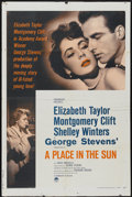"""Movie Posters:Film Noir, A Place In The Sun (Paramount, R-1959). One Sheet (27"""" X 41""""). Film Noir...."""