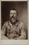 Photography:Cabinet Photos, Cabinet Card Photograph of Unidentified Frontiersman ca 1880s -...
