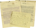 Movie/TV Memorabilia:Autographs and Signed Items, Thomas H. Ince Rare Handwritten Note and Original Film Treatmentfrom Triangle Motion Picture Company. A note written and in...(Total: 1 Item)
