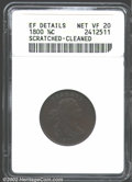 1800 1/2 C --Scratched, Cleaned--ANACS. XF Details, Net VF20. C-1, B-1, R.1. The only variety for the year. The dark red...