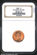 1995 1C Doubled Die Obverse MS68 Red NGC. LIBERTY and IN GOD is strongly die doubled. A seemingly perfect example that h...