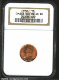 1995 1C Doubled Die Obverse MS68 Red NGC. Bright mint red color and fully struck....(PCGS# 3127)