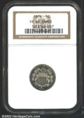 1876 5C PR65 Cameo NGC. This golden tinged example is bright with well frosted devices and reflective fields. Worthy of...