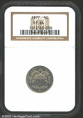 1877 5C PR64 NGC. This is a wholly original example with mottled golden-tan overtones and a little more vibrant color ov...