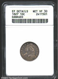 1827 10C --Damaged--ANACS. XF Details, Net VF30. JR-11, R.2. The devices have numerous faint scratches, apparently perfo...