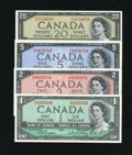 Canadian Currency: , Four Different Canadian Notes.. ... (Total: 4 notes)