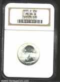 Washington Quarters: , 1935-D 25C MS66 W NGC. A highly lustrous example of this ...