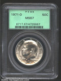 Kennedy Half Dollars: , 1971-D 50C MS67 PCGS. Bright and highly lustrous with ...