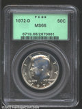 Kennedy Half Dollars: , 1972-D 50C MS66 PCGS. Bright and lightly toned with ...
