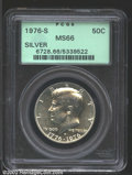 Kennedy Half Dollars: , 1976-S 50C Silver MS66 PCGS. Brilliant and highly ...