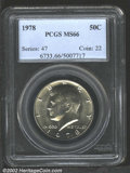 Kennedy Half Dollars: , 1978 50C MS66 PCGS. Brilliant and highly lustrous....
