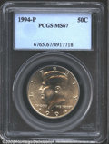 Kennedy Half Dollars: , 1994-P 50C MS67 PCGS. Swirling mint luster races around ...
