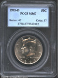 Kennedy Half Dollars: , 1995-D 50C MS67 PCGS. Brilliant and fully struck with ...