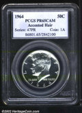 Proof Kennedy Half Dollars: , 1964 50C Accented Hair PR65 Cameo PCGS. This well ...