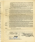 Autographs:Others, 1962 Orlando Pena Player Contract Signed By Joe Cronin and CharlesO. Finley. Both the American League President as well as...