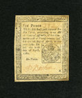 Colonial Notes:Pennsylvania, Pennsylvania April 20, 1781 6d Extremely Fine....